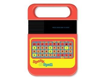 Speak 'n' Spell quiz template
