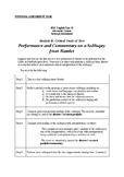 Speak the Speech! Assessment for the Study of Shakespeare'