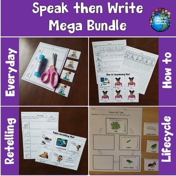 Speak then Write Mega Bundle Print and Digital Distance Learning