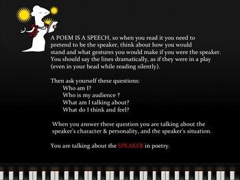 Speaker In Poetry