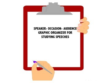 Speaker, Occasion, Audience Graphic Organizer