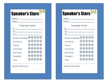 Speaker's Stars - Assess Oral Presentations