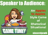 Speaker to Audience: A Rhetorical Situation Game