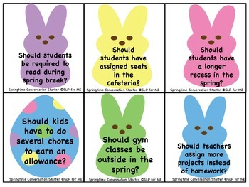 Speaking About Spring & Some Other Things - A Conversation Maintenance Activity