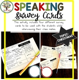 Speaking Activities ESL Surveys - Christmas