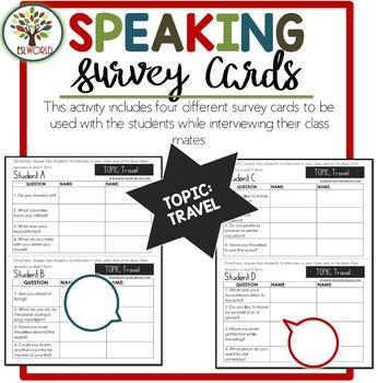 Speaking Activities ESL Surveys - Travel