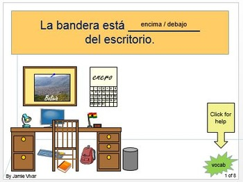 Speaking Activity: Above or Below and classroom items
