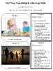 Speaking Activity Cards {Talking about Self & Family}