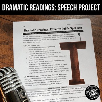 Speaking Activity: Dramatic Readings {Speeches and Poems}