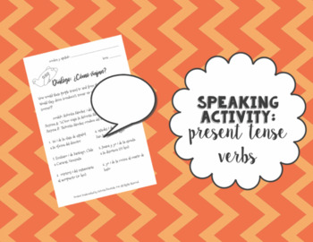 Speaking Activity: How do they travel? Present Tense Verb Review