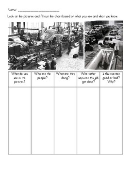 Speaking Activity - Inventions (Assembly Line and Sewing Machine) - Test Prep