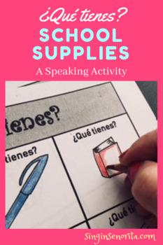 Speaking Activity School Supplies & Color-¿Qué tienes?