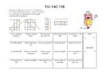 Speaking Activity - TIC TAC TOE
