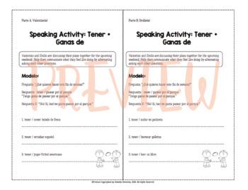 Speaking Activity: Tener + Ganas de