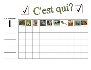 French Animals Speaking Activity (Large Group, Whole Class)