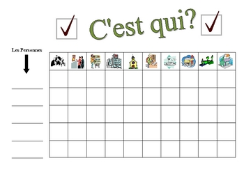 French City Locations Speaking Activity (Large Group, Whole Class)