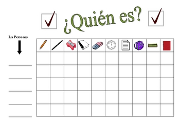 Spanish Classroom Objects Speaking Activity (Large Group, Whole Class)