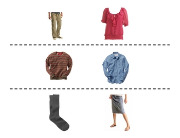 French Clothing Speaking Activity (Large Group, Whole Class)