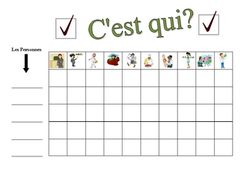 French Jobs and Professions Speaking Activity (Large Group, Whole Class)