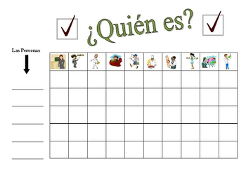 Spanish Jobs and Professions Speaking Activity (Large Group, Whole Class)