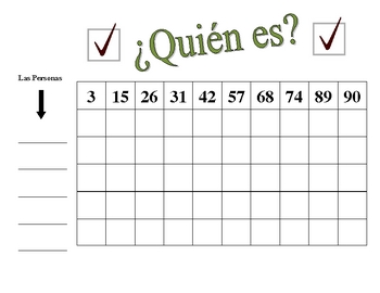 Spanish Numbers Speaking Activity (Large Group, Whole Class)