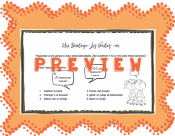 Speaking Activity with Present Tense -AR Verbs