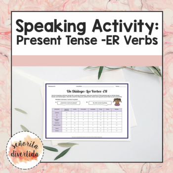 Speaking Activity with Present Tense -ER Verbs