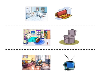 French Rooms and Furniture Speaking Activity (Large Group, Whole Class)