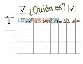 Spanish Rooms and Furniture Speaking Activity (Large Group, Whole Class)
