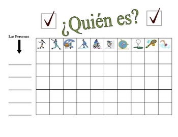 Spanish Sports Speaking Activity (Large Group, Whole Class)
