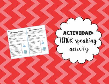 """Speaking Activity with """"Tener que"""""""