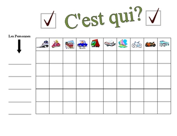 French Transportation Speaking Activity (Large Group, Whole Class)