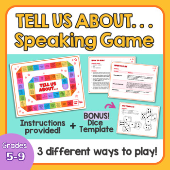"""Speaking Board Game: """"Tell us about..."""""""