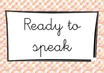 Speaking English Clip it chart