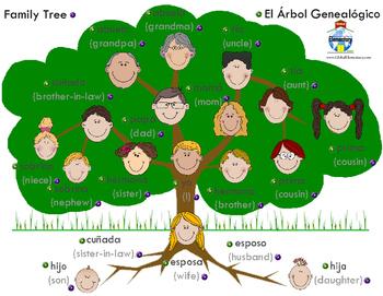 Spanish & English Speaking Family Tree