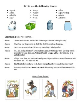 Speaking Lesson - Errands and Chores
