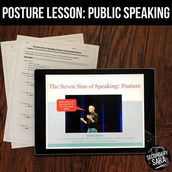 """Speaking Lesson on Posture & Movement: """"The Seven Sins of Speaking"""""""