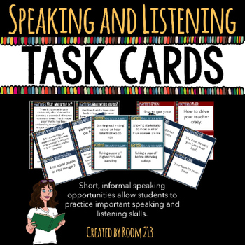 Speaking & Listening Activities: Task Cards