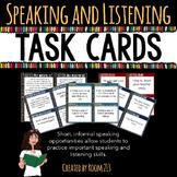 Speaking & Listening Activities: Task Cards