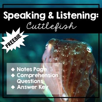 Speaking & Listening: Cuttlefish