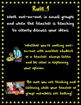 Speaking & Listening Guidelines-Lesson for the beginning of the year!