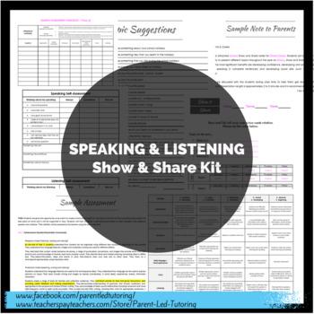 Speaking & Listening Kit (Show & Share / News / Show & Tell)