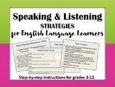 Speaking & Listening Strategies for ELLs