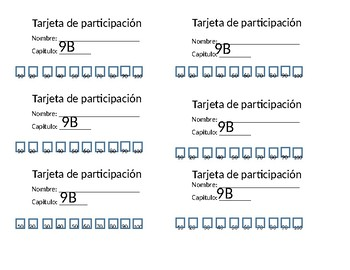 Speaking / Participation Cards
