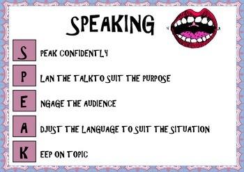 Speaking Poster