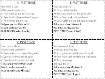 Speaking Practice Cards {ESL Speaking Game Cards}