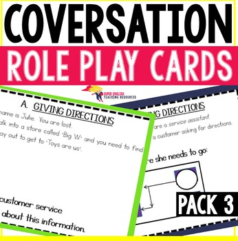 Conversation Starters Role Play Cards Pack 3 - Past Tense & Directions