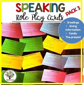 Speaking Practice Cards Pack 3 {Greetings/Giving informati