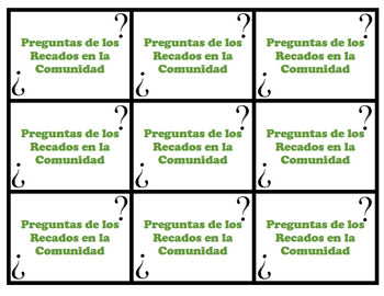 Speaking Questions Cards Realidades 2 Bundle
