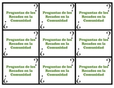 Speaking Questions Cards Realidades 2 (Community / Errands Vocab)